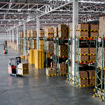 Handling, logistics and end-of-production facilities